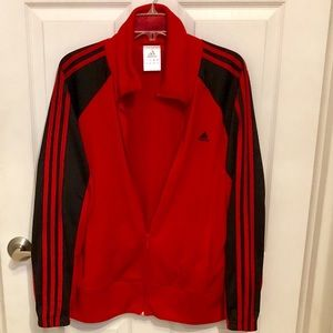 ADIDAS Red and Black 3-STRIPE Track Jacket